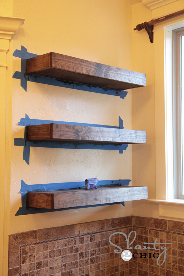 Best ideas about Floating Bookshelves DIY . Save or Pin Easy DIY Floating Shelves Shanty 2 Chic Now.