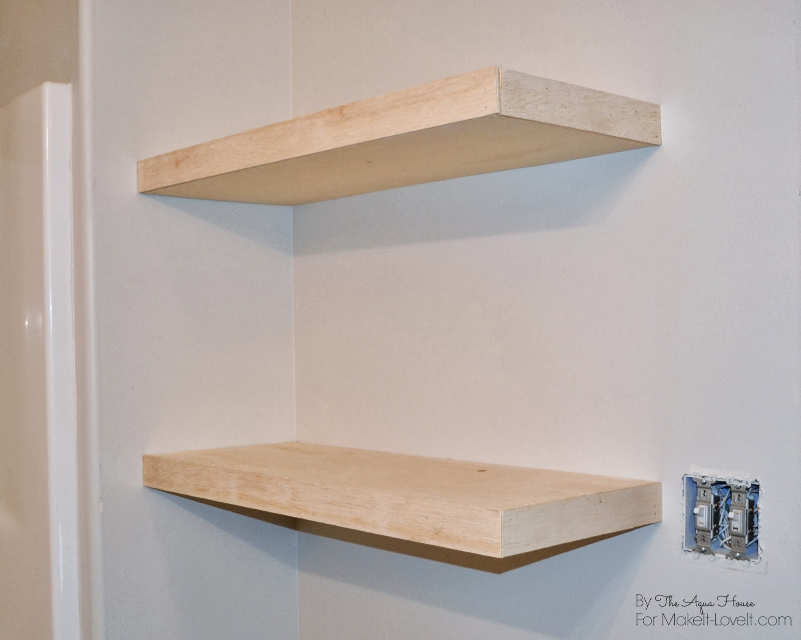 Best ideas about Floating Bookshelves DIY . Save or Pin DIY Floating Shelves a great storage solution Now.
