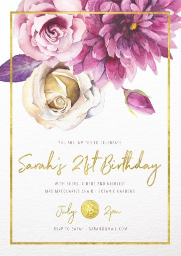 Best ideas about Floral Birthday Invitations . Save or Pin Floral Birthday Invitations Now.