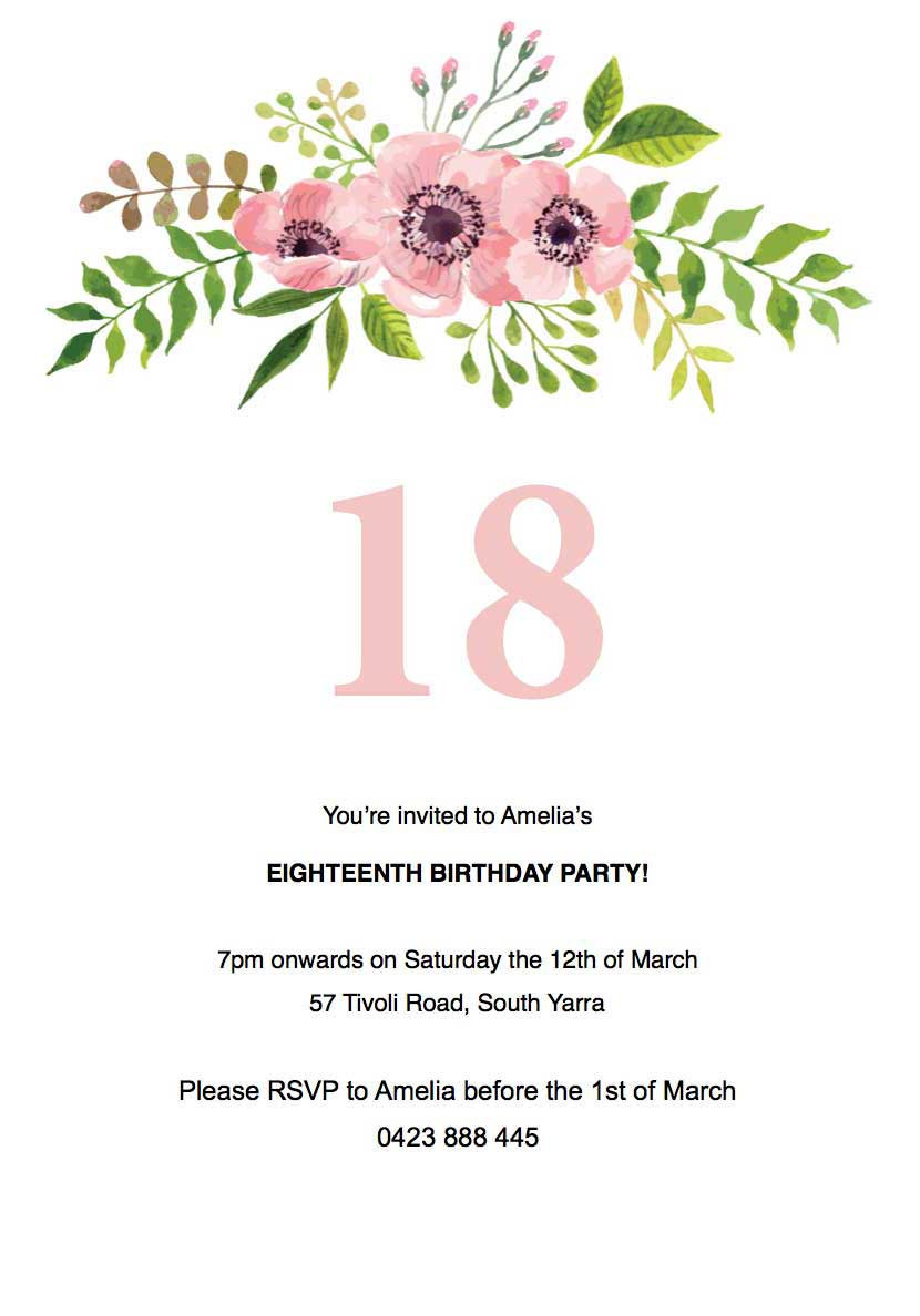 Best ideas about Floral Birthday Invitations . Save or Pin floral birthday invitation Template Paperlust Now.