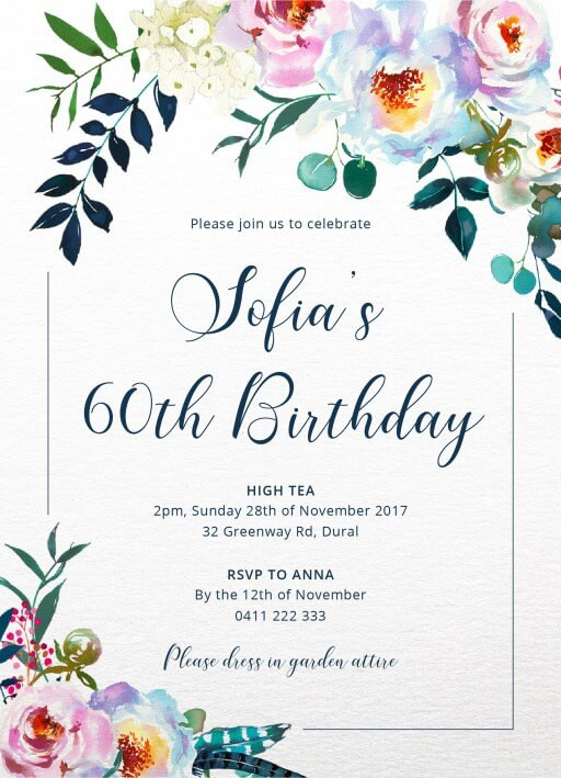 Best ideas about Floral Birthday Invitations . Save or Pin Floral Bouquet DP Now.