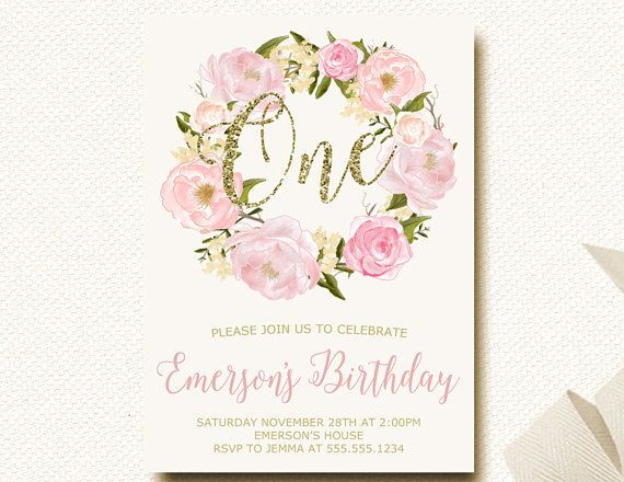 Best ideas about Floral Birthday Invitations . Save or Pin 1000 images about Floral birthday party on Pinterest Now.