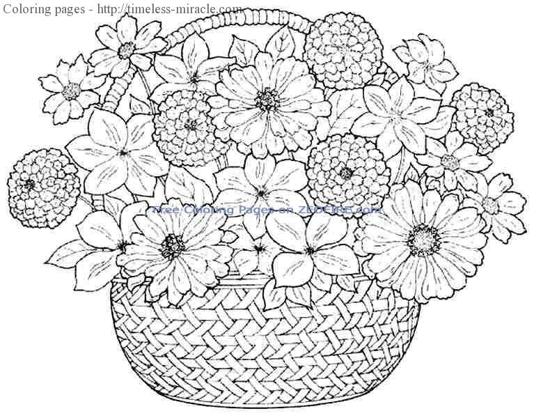 Best ideas about Flower Coloring Sheets For Girls . Save or Pin Coloring pages for girls flowers timeless miracle Now.