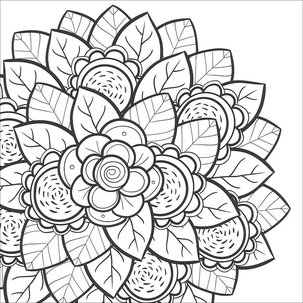 Best ideas about Flower Coloring Sheets For Girls . Save or Pin Coloring Pages for Teens Best Coloring Pages For Kids Now.
