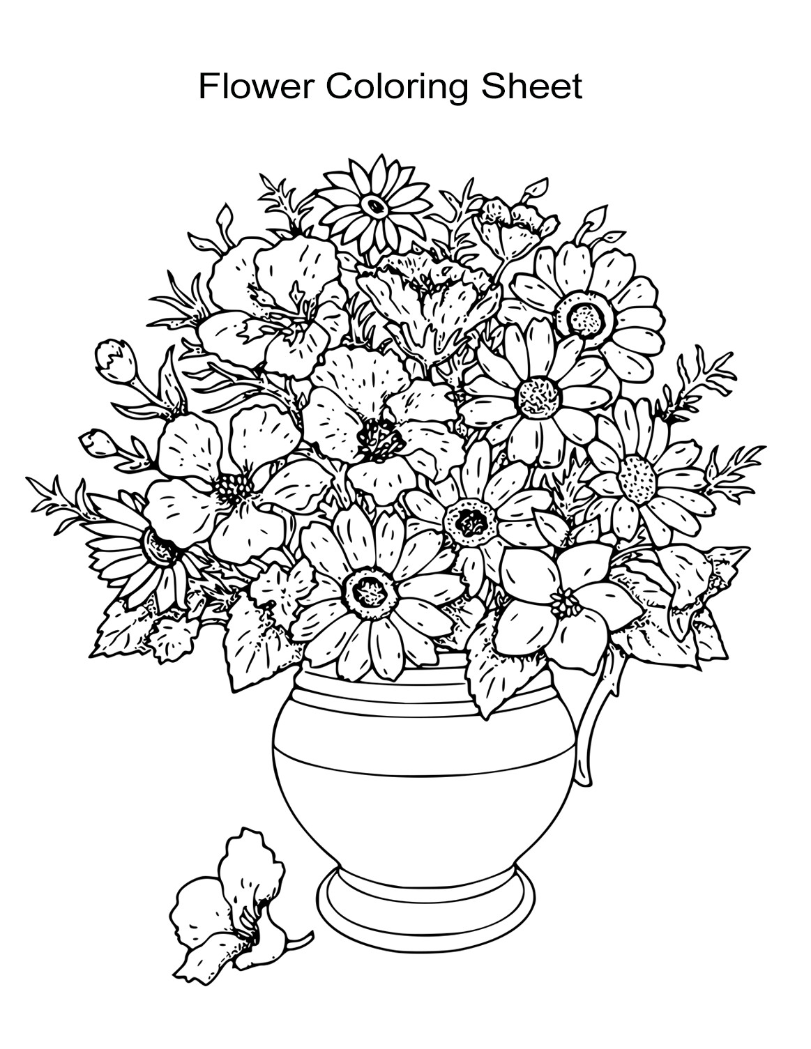 Best ideas about Flower Coloring Sheets For Girls . Save or Pin 10 Flower Coloring Sheets for Girls and Boys Free Now.