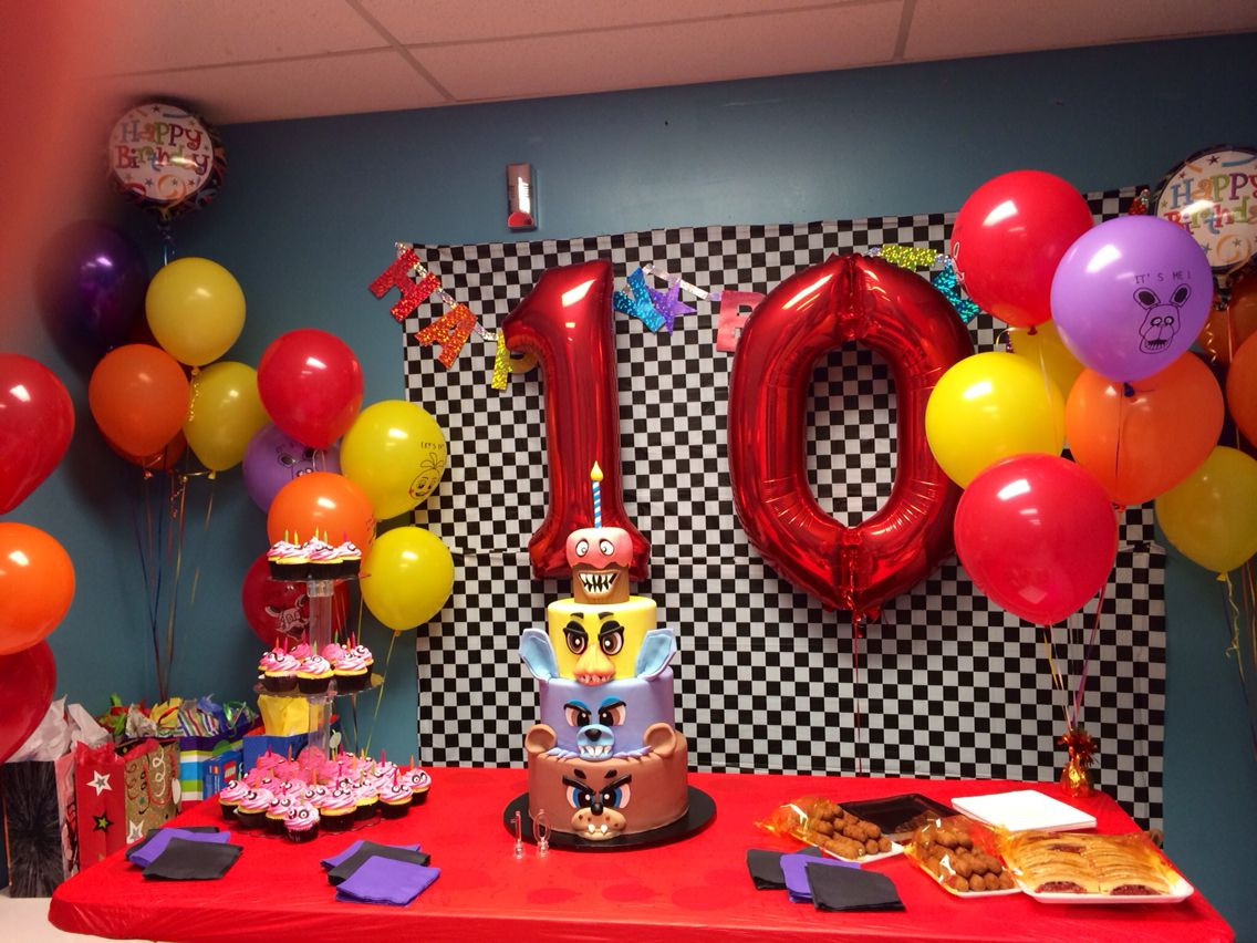 Best ideas about Fnaf Birthday Party Decorations . Save or Pin Five Nights at Freddy s FNAF Birthday Decor Now.