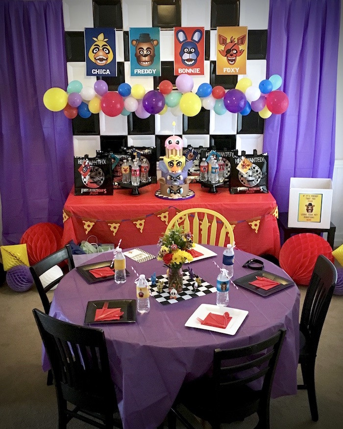 Best ideas about Fnaf Birthday Party Decorations . Save or Pin Kara s Party Ideas Five Nights At Freddy s Birthday Party Now.