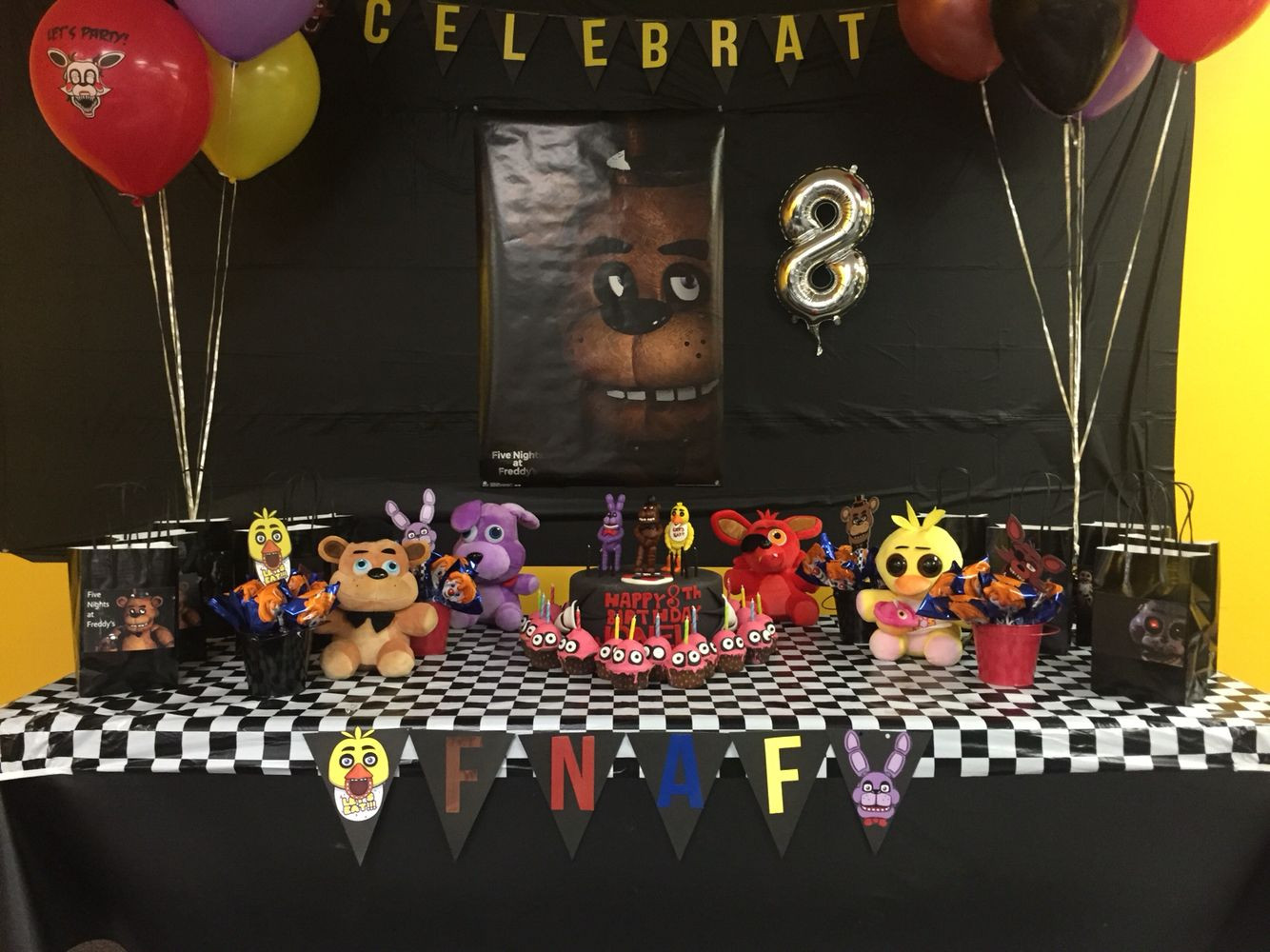 Best ideas about Fnaf Birthday Party Decorations . Save or Pin FNAF Five Nights At Freddys theme birthday decor I Now.