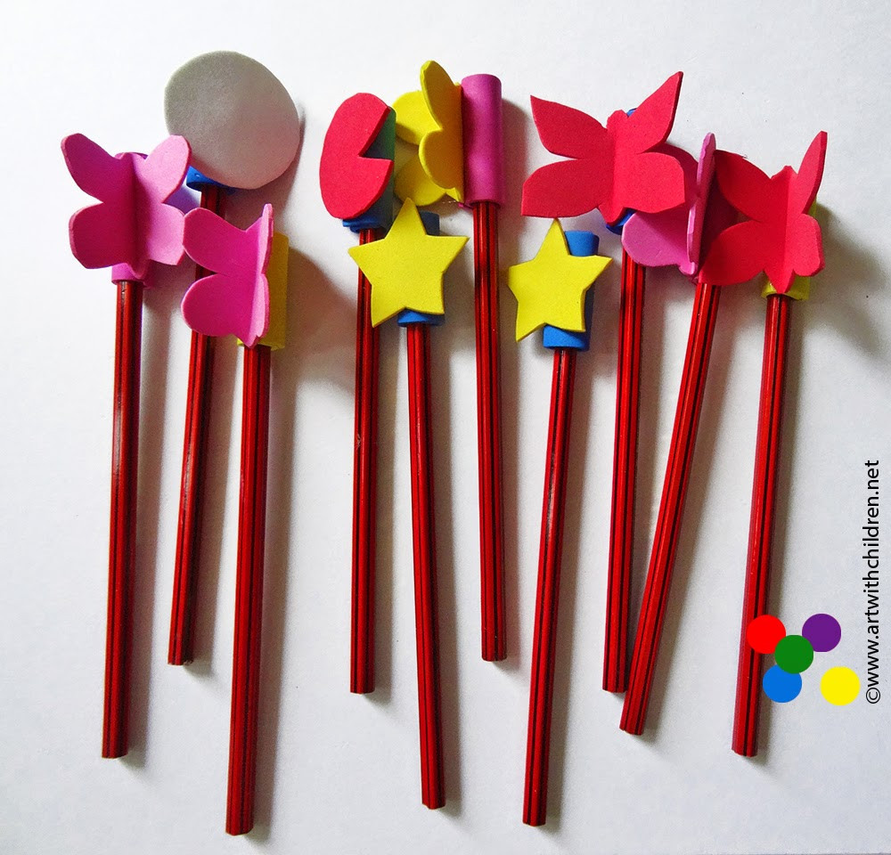Best ideas about Foam Craft Ideas For Adults . Save or Pin Craft foam pencil toppers Now.