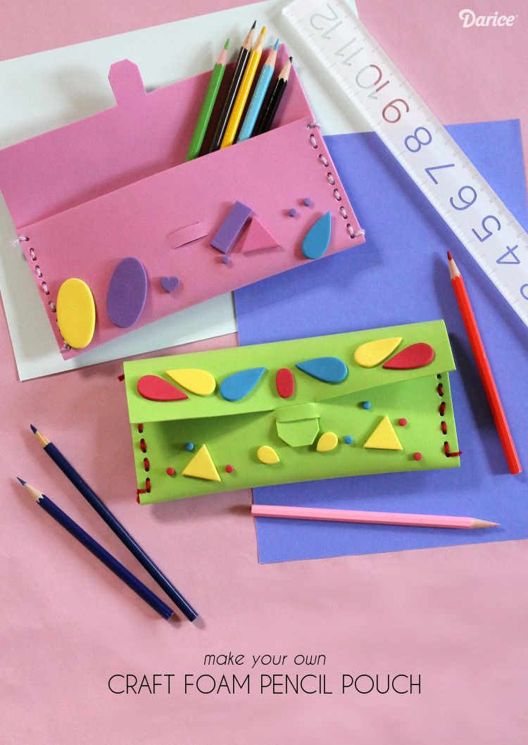 Best ideas about Foam Craft Ideas For Adults . Save or Pin DIY Pencil Case Tutorial For Back to School Darice Now.