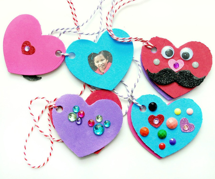 Best ideas about Foam Craft Ideas For Adults . Save or Pin Valentine s Day Foam Heart Locket Now.