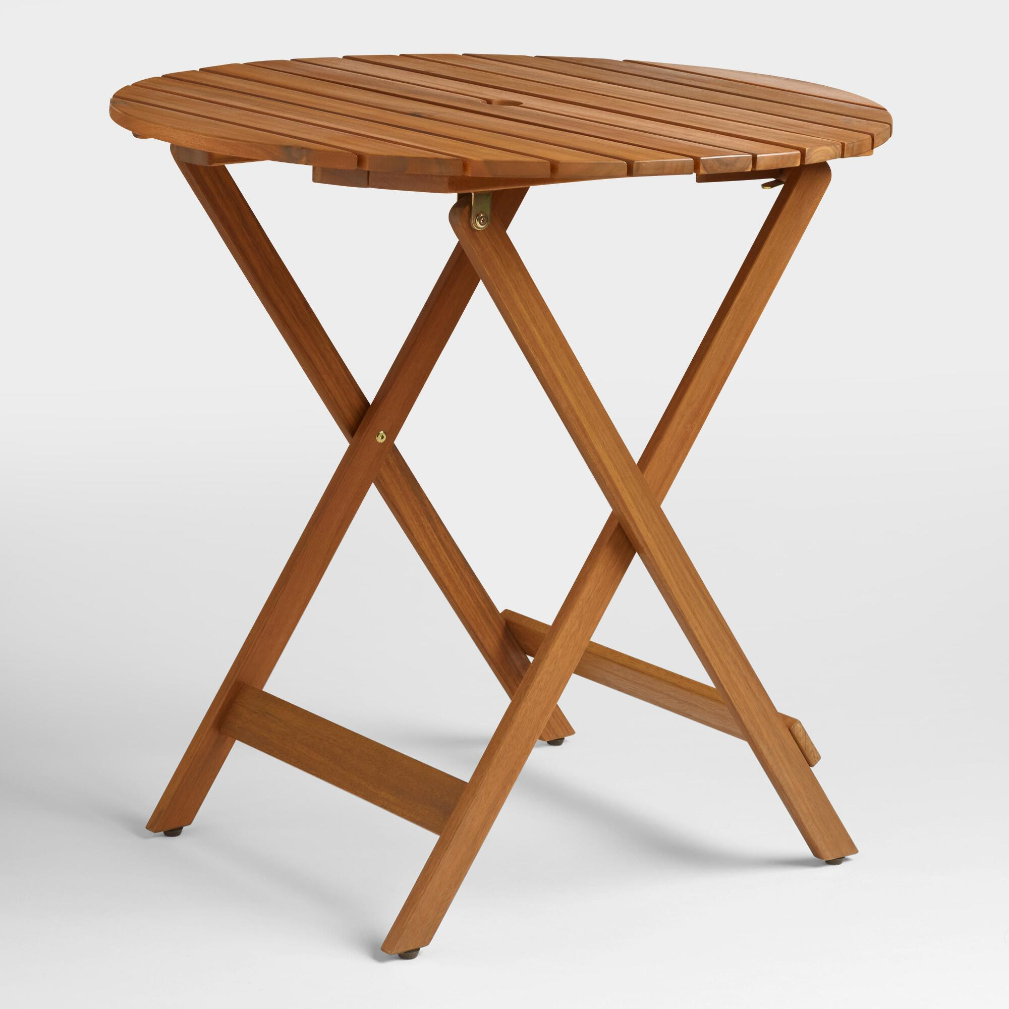 Best ideas about Folding Dining Table . Save or Pin Round Natural Wood Mika Folding Dining Table Now.