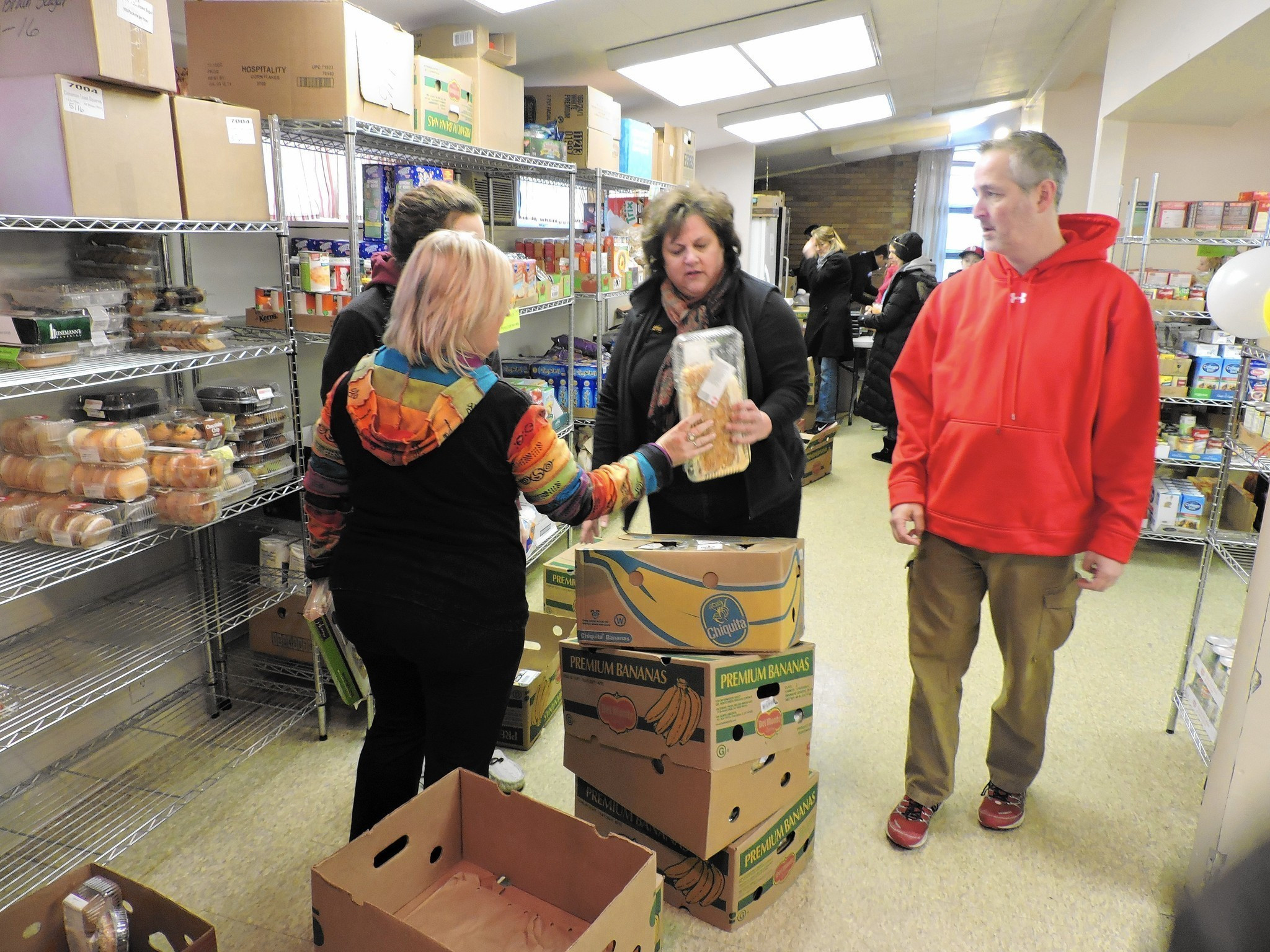 Best ideas about Food Pantry Volunteer . Save or Pin Food pantry volunteers celebrate one year anniversary say Now.