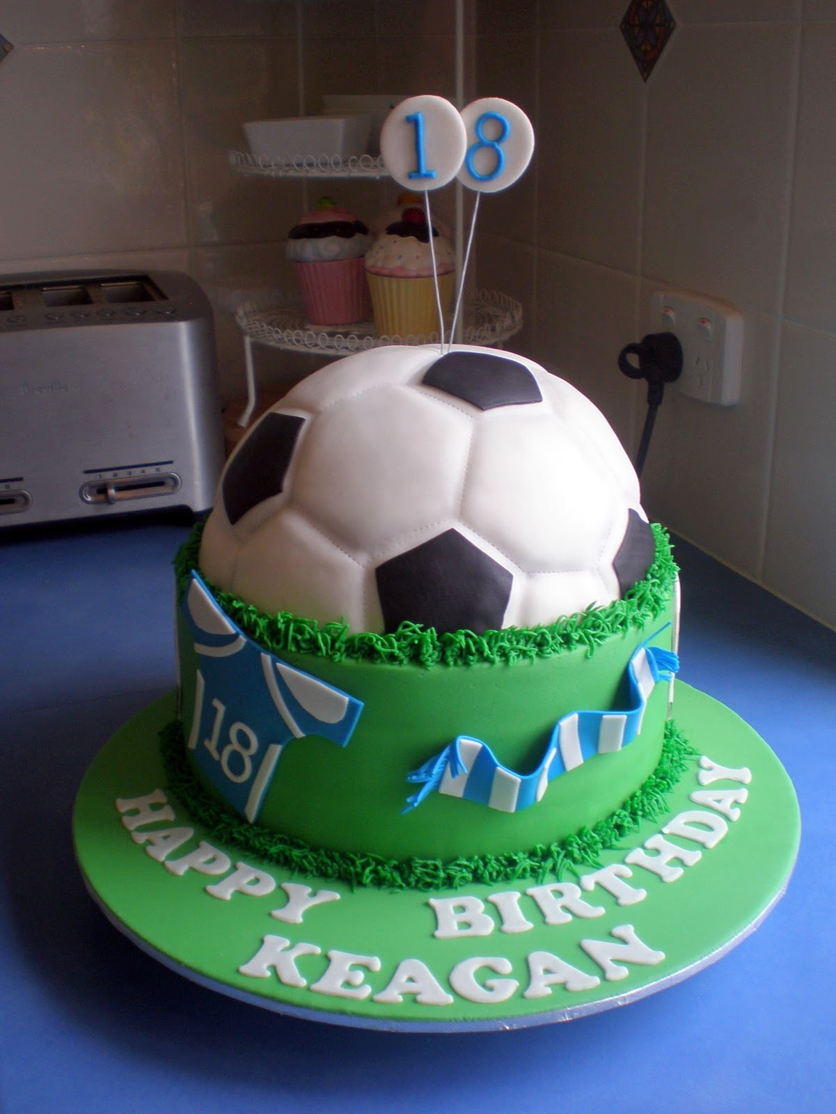 Best ideas about Football Birthday Cake . Save or Pin Sugar Siren Cakes Mackay Soccer Football Birthday Cake Now.