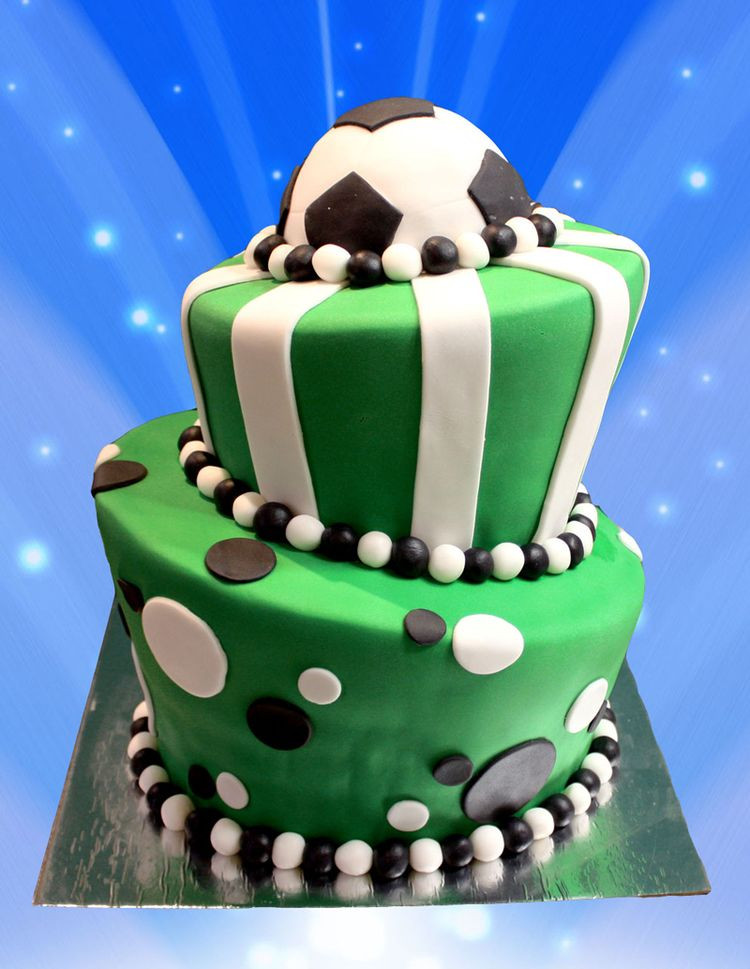 Best ideas about Football Birthday Cake . Save or Pin 2 tier birthday cake football Now.