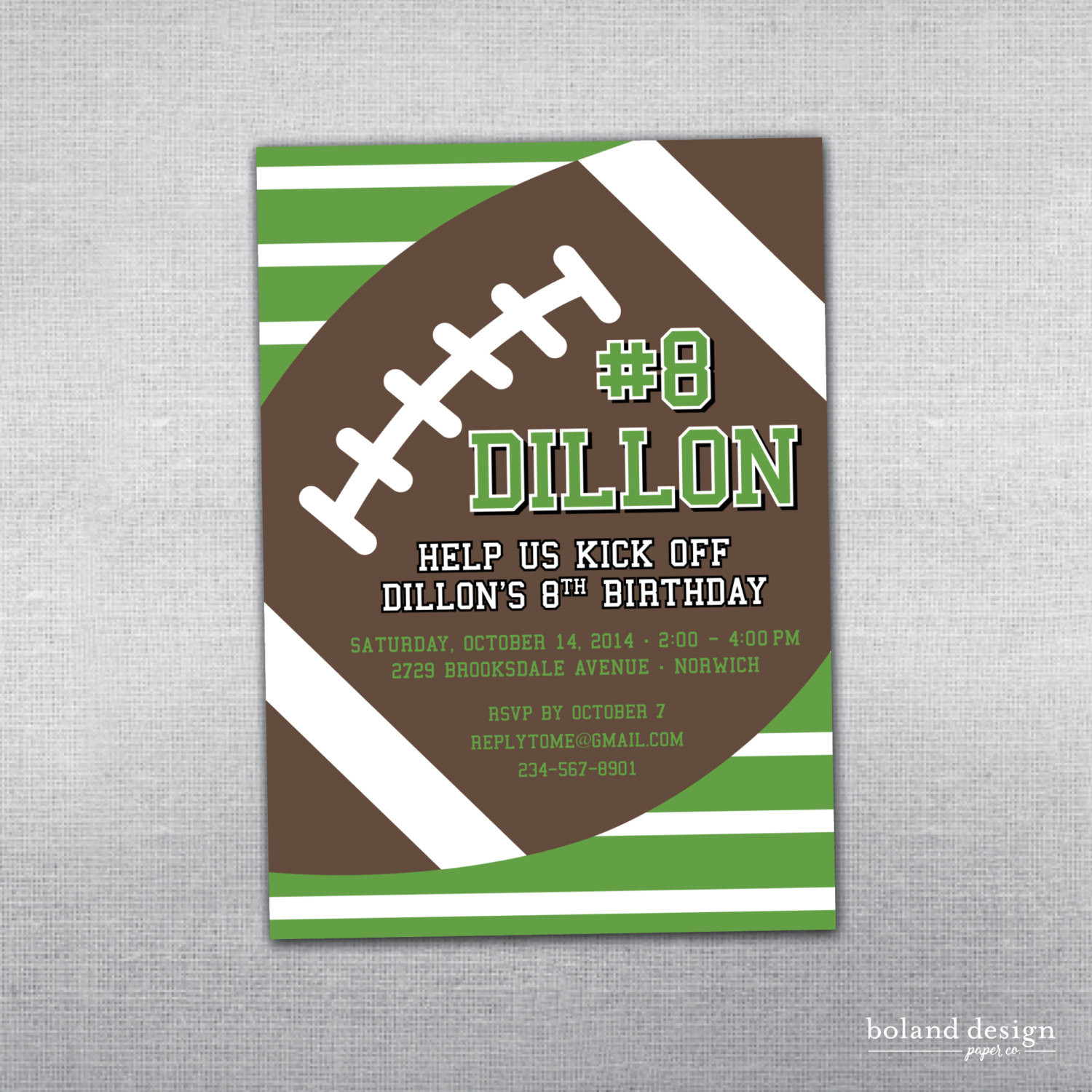 Best ideas about Football Birthday Party Invitations . Save or Pin Football birthday invitation Football party Football Now.