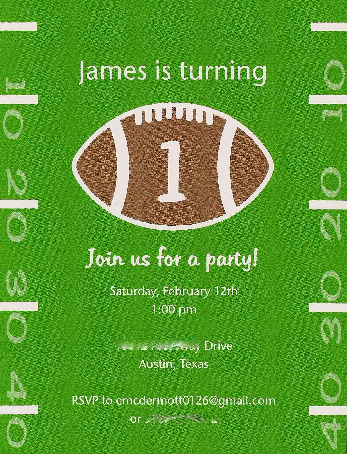 Best ideas about Football Birthday Party Invitations . Save or Pin Baby McDermott First Birthday Party The Details Now.