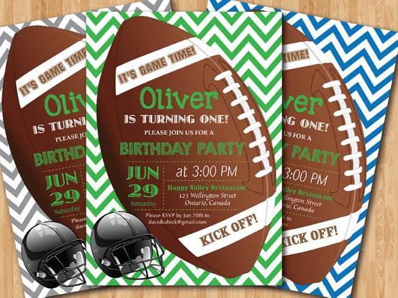 Best ideas about Football Birthday Party Invitations . Save or Pin Football birthday invitation Boy 1st first birthday party Now.