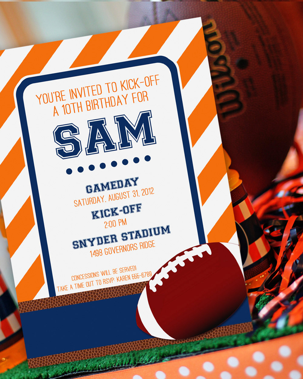 Best ideas about Football Birthday Party Invitations . Save or Pin Football Party Invitation Football Birthday Invitation Now.