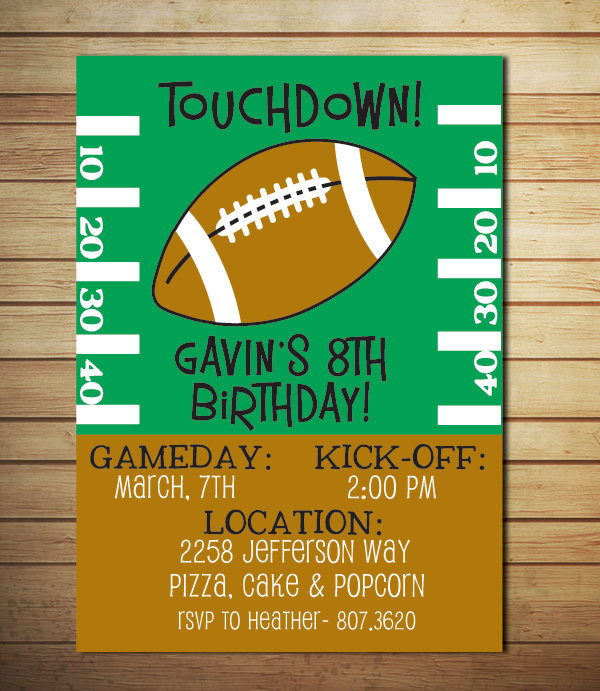 Best ideas about Football Birthday Party Invitations . Save or Pin colleen bouchard on Etsy Now.