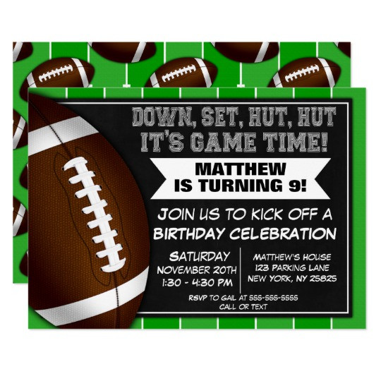 Best ideas about Football Birthday Party Invitations . Save or Pin Football Player Birthday Cards Now.