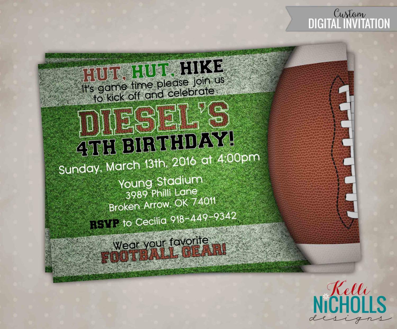 Best ideas about Football Birthday Party Invitations . Save or Pin Football Birthday Invitation Football by KelliNichollsDesigns Now.