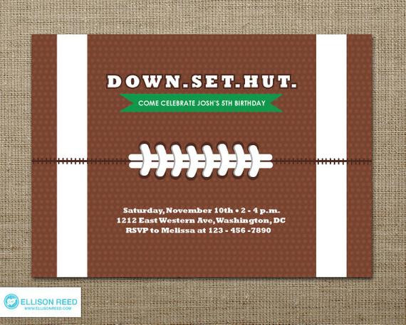 Best ideas about Football Birthday Party Invitations . Save or Pin Football Invitation Football Party Football Birthday Now.