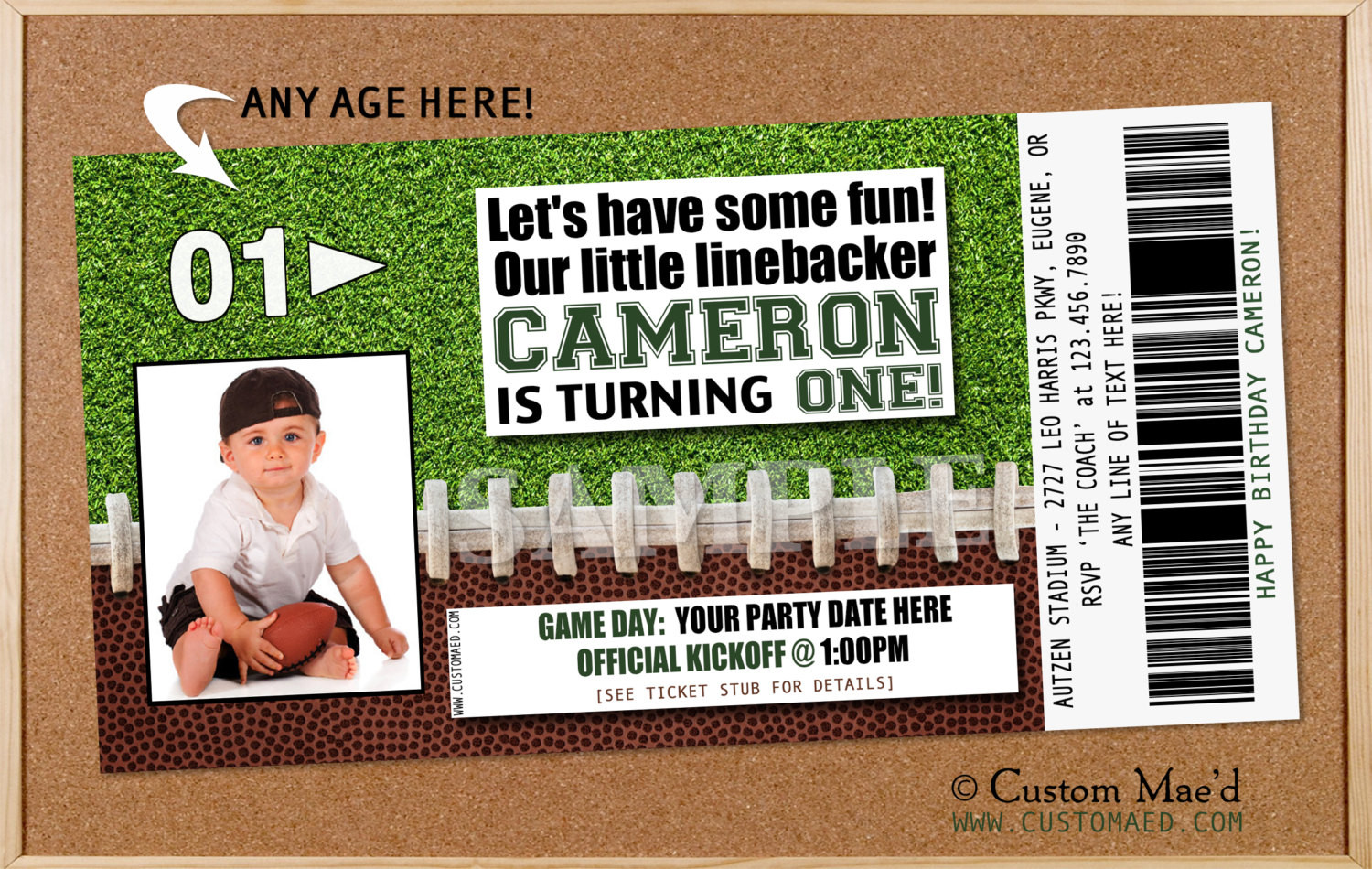 Best ideas about Football Birthday Party Invitations . Save or Pin Football Birthday Invitation Football Birthday Party Now.