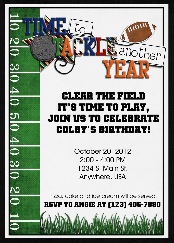 Best ideas about Football Birthday Party Invitations . Save or Pin Football Birthday Party Invitation Digital Custom Super Now.