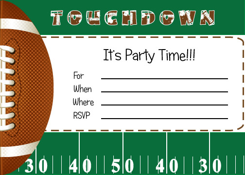 Best ideas about Football Birthday Party Invitations . Save or Pin FREE Football Party Printables from By Invitation ly DIY Now.