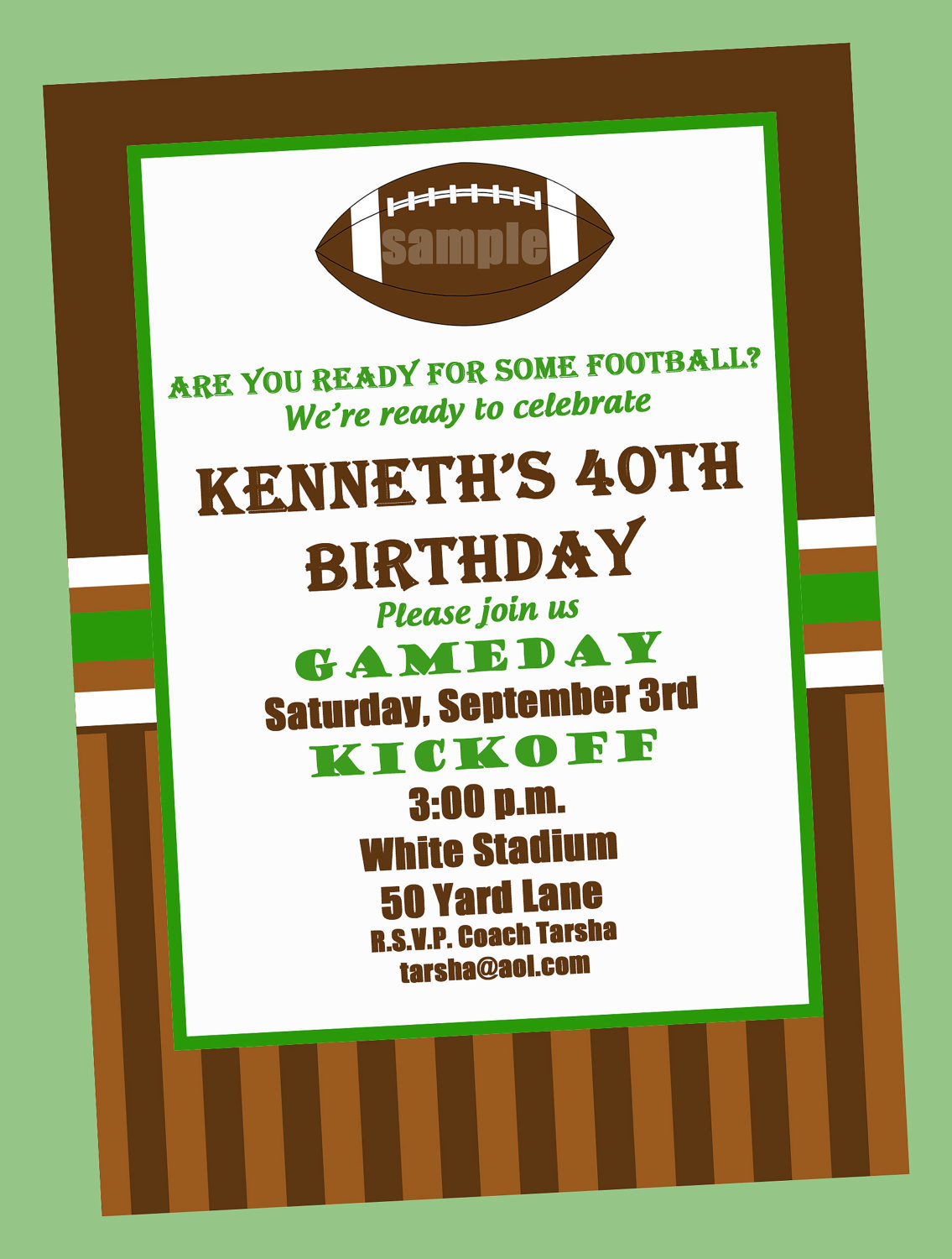 Best ideas about Football Birthday Party Invitations . Save or Pin Football Birthday Party Invitation Printable or Printed with Now.