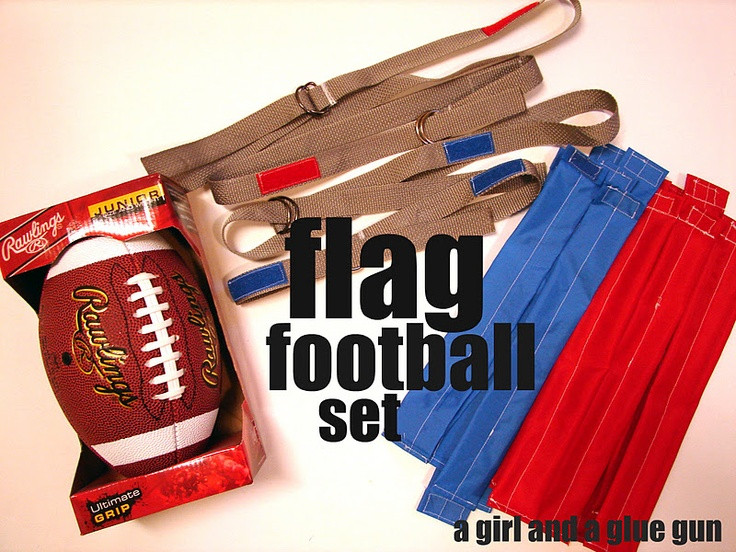 Best ideas about Football Gift Ideas For Boys . Save or Pin DIY flag football set DIY Pinterest Now.