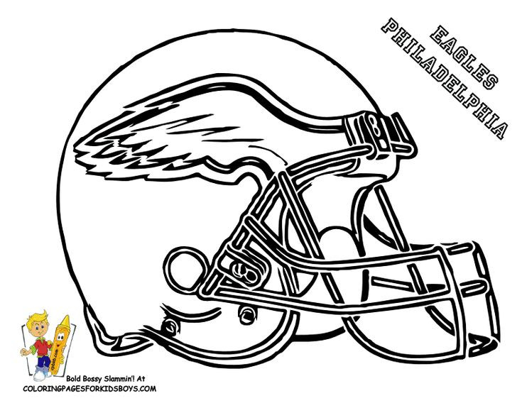 Best ideas about Football Helmet Coloring Pages For Kids . Save or Pin eagle football coloring pages Now.