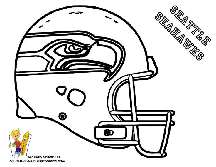 Best ideas about Football Helmet Coloring Pages For Kids . Save or Pin SEATTLE NFL coloring pages Now.