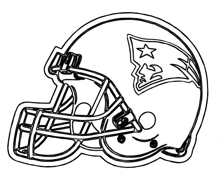 Best ideas about Football Helmet Coloring Pages For Kids . Save or Pin Football Helmet Patriots New England Coloring Pages Now.