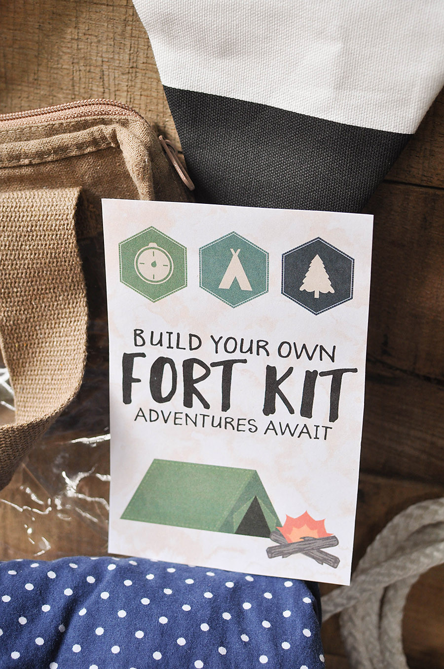 Best ideas about Fort Kit DIY . Save or Pin DIY Fort Kit with a Free Printable Gift Tag Our Now.