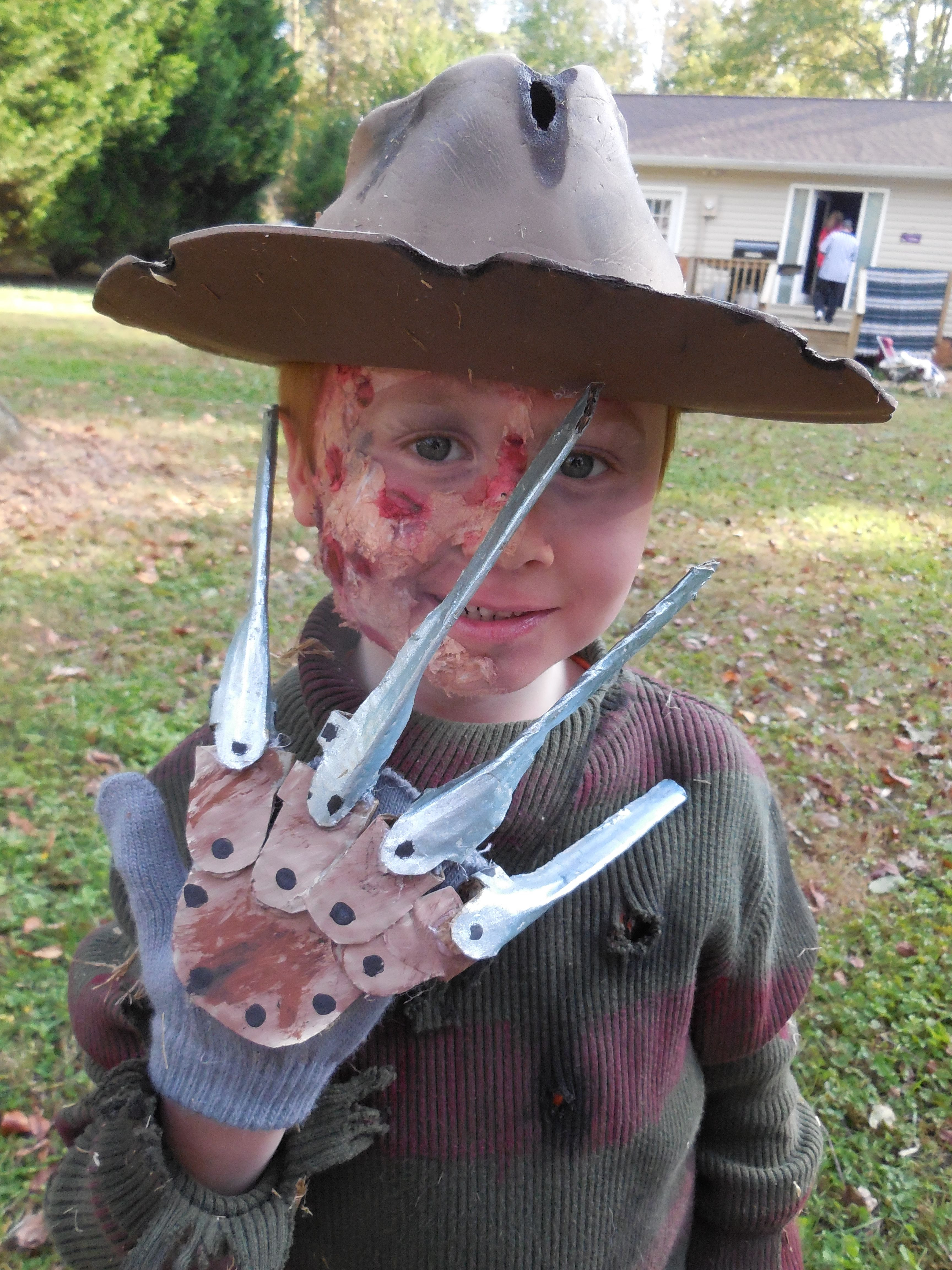 Best ideas about Freddy Krueger Costume DIY . Save or Pin My DIY freddy krueger costume for my son Now.