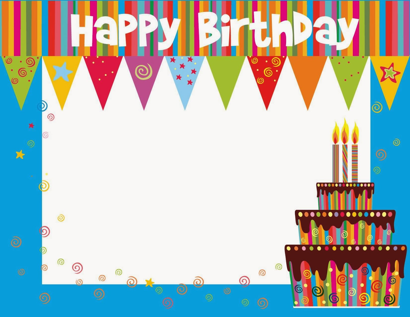 Best ideas about Free Birthday Card Template . Save or Pin Free Printable Birthday cards ideas Greeting Card Template Now.