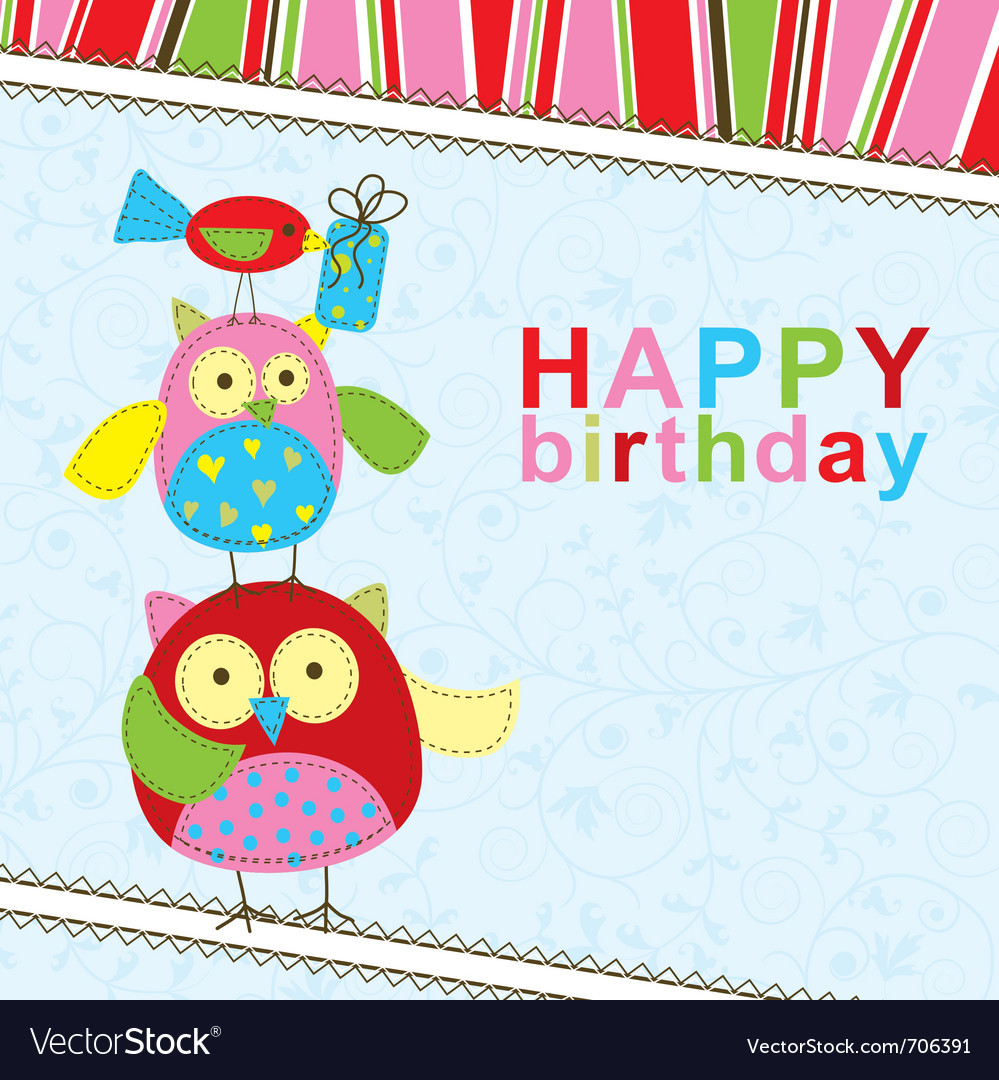 Best ideas about Free Birthday Card Template . Save or Pin Template birthday greeting card Royalty Free Vector Image Now.