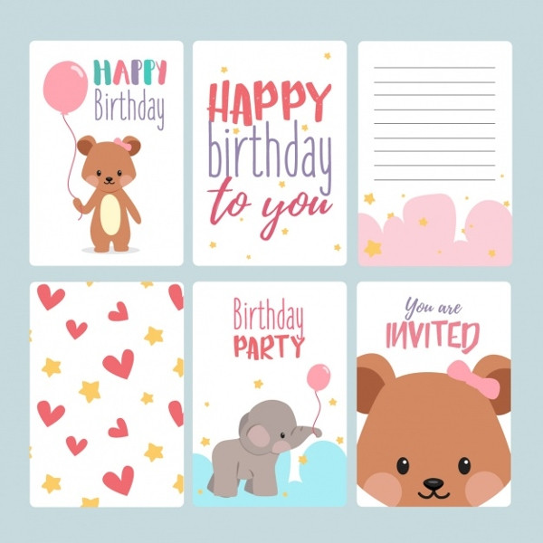 Best ideas about Free Birthday Card Template . Save or Pin 17 Birthday Card Templates Free PSD EPS Document Now.