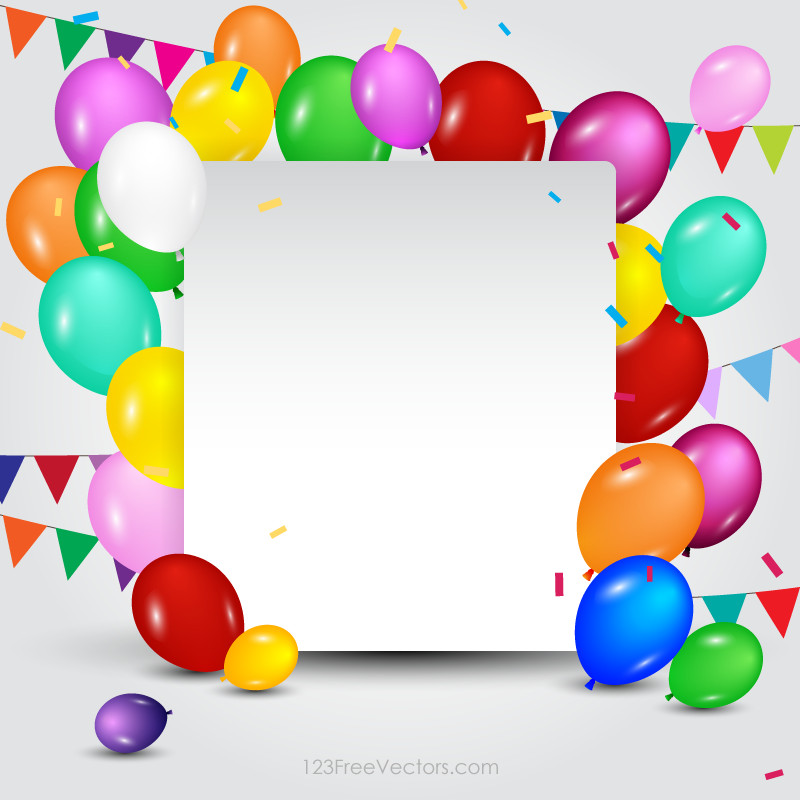 Best ideas about Free Birthday Card Template . Save or Pin Happy Birthday Card Template Free Vectors Now.