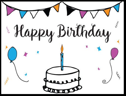 Best ideas about Free Birthday Card Template . Save or Pin Free Printable Birthday Card Template Now.