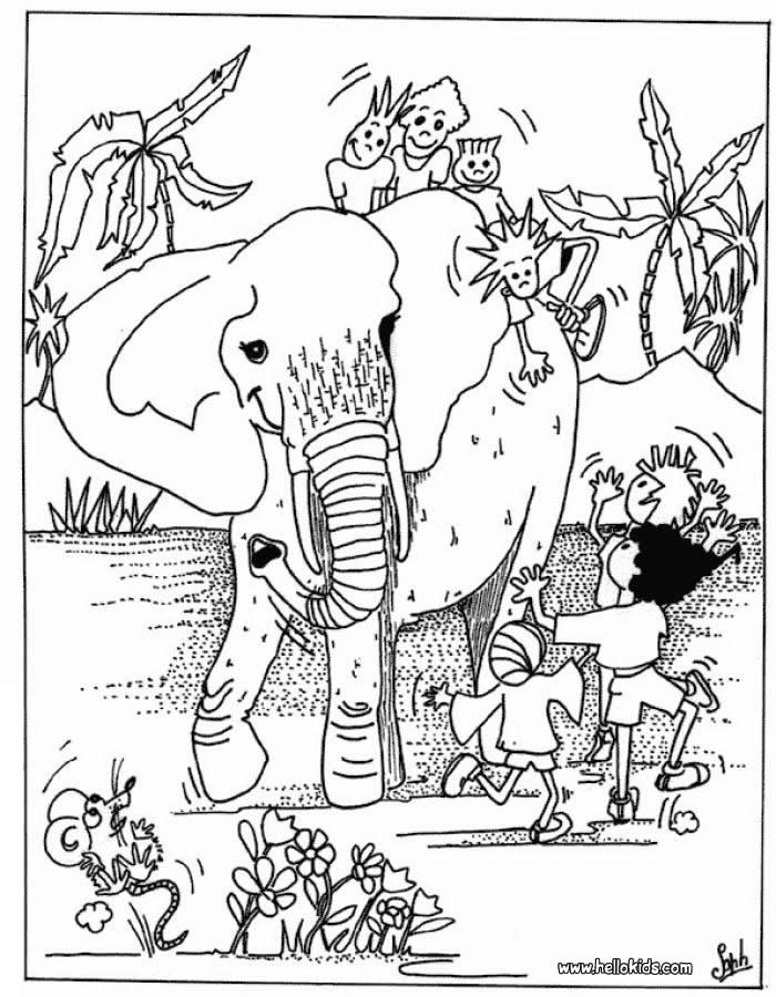Best ideas about Free Coloring Pages African Animals . Save or Pin Kinder mit elefant zum ausmalen zum ausmalen de Now.