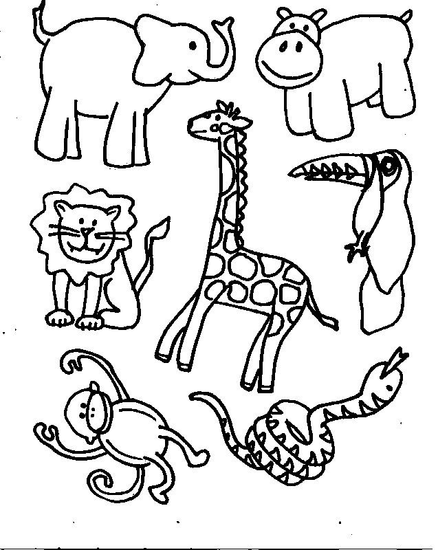 Best ideas about Free Coloring Pages African Animals . Save or Pin Coloring Pages African Animals AZ Coloring Pages Now.