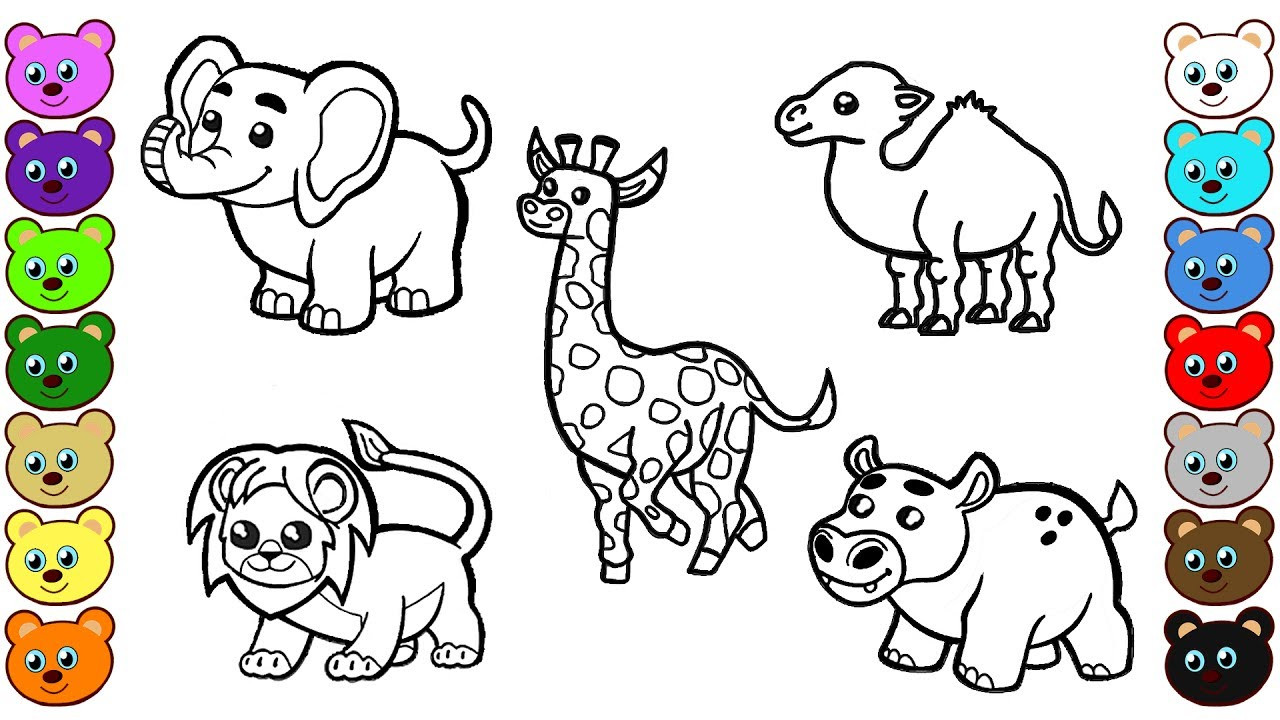 Best ideas about Free Coloring Pages African Animals . Save or Pin African Animals Coloring Pages for Children Now.