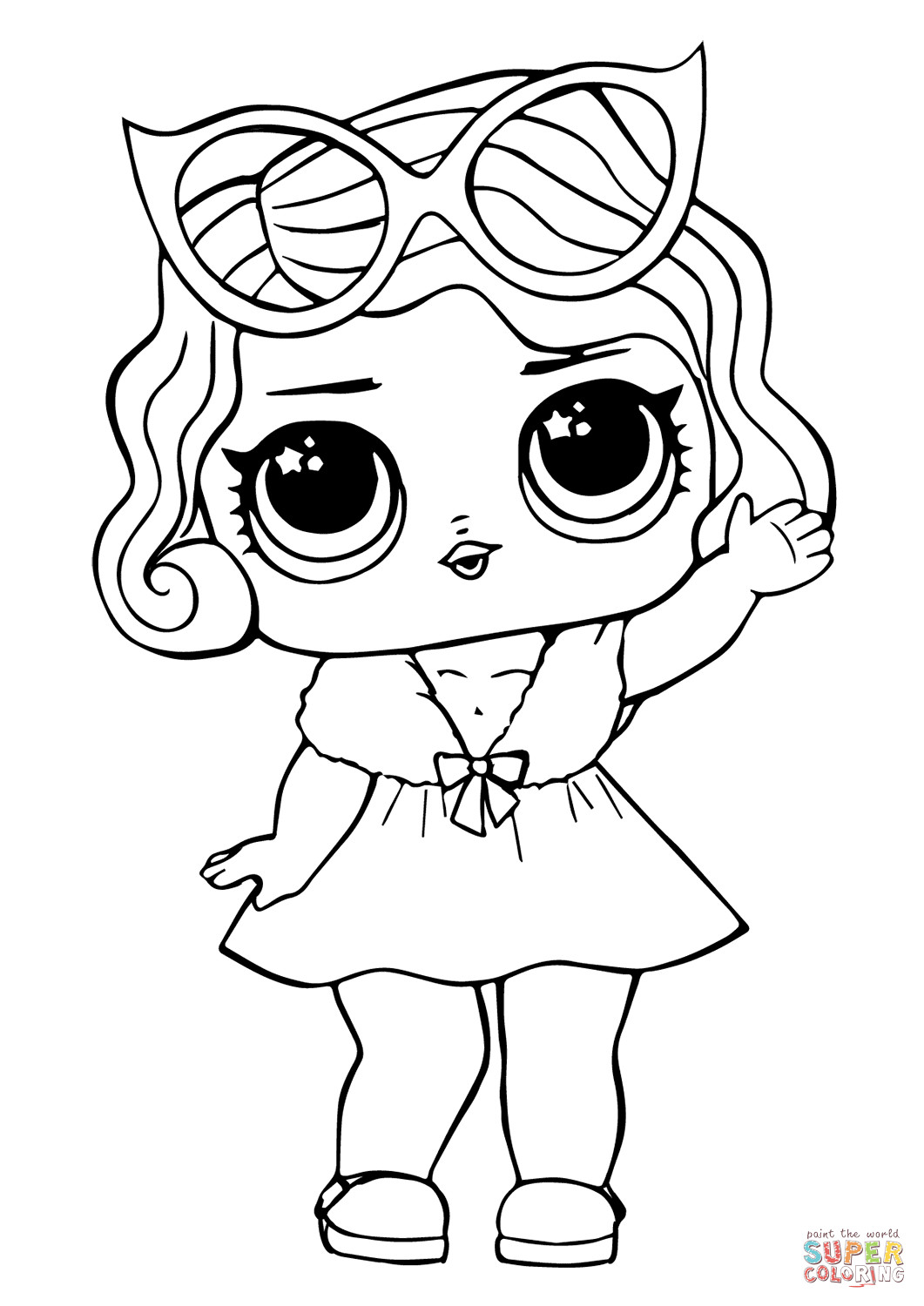 Best ideas about Free Coloring Pages Baby . Save or Pin LOL Doll Leading Baby coloring page Now.