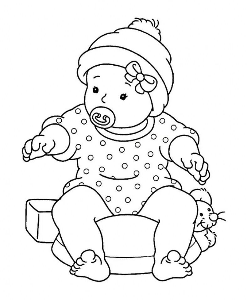 Best ideas about Free Coloring Pages Baby . Save or Pin Free Printable Baby Coloring Pages For Kids Now.