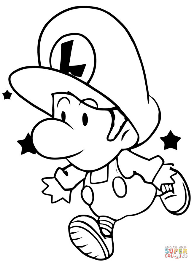Best ideas about Free Coloring Pages Baby . Save or Pin Baby Luigi coloring page Now.