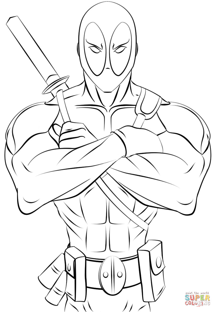 Best ideas about Free Coloring Pages Deadpool . Save or Pin Deadpool Coloring Pages Coloring Home Now.