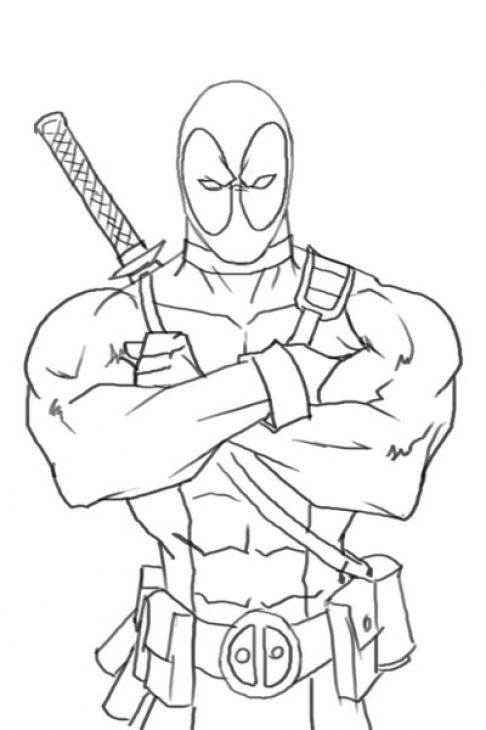 Best ideas about Free Coloring Pages Deadpool . Save or Pin line Deadpool Coloring Page Free To Print Now.